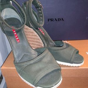 Prada wedges